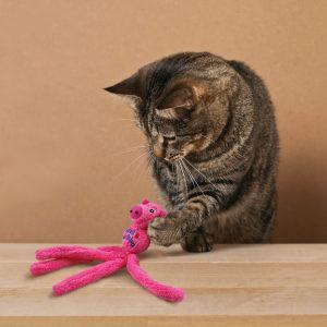 Mascotienda Gato jugando Kong Wubba
