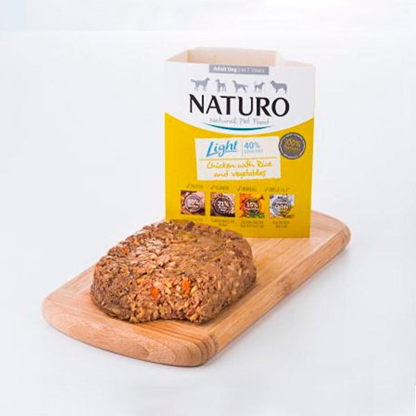 Mascotienda Naturo Light chicken&rice presentacion
