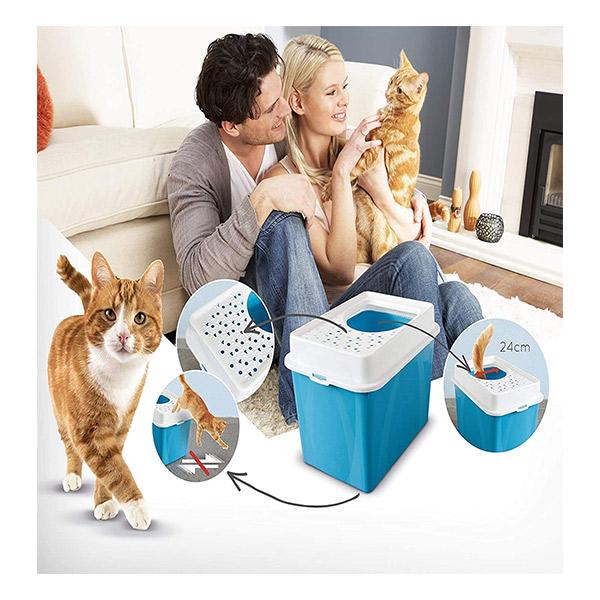 Mascotienda-caseta-higienica-gato-Rotho-Berty-alta-detalle