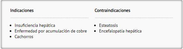 Pros y contras hepatico HLD perro