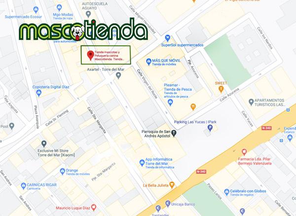Mascotienda mapa localización tienda mascotas y peluquería canina cerca de ti
