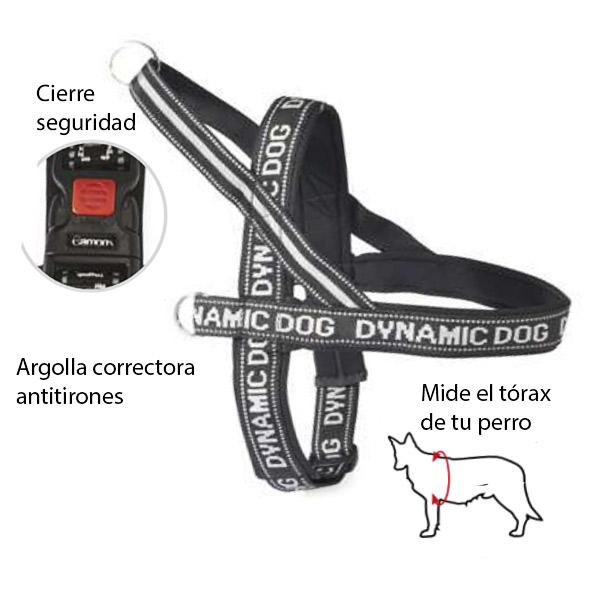 Arnes neopreno Dynamic negro para perros Mascotienda