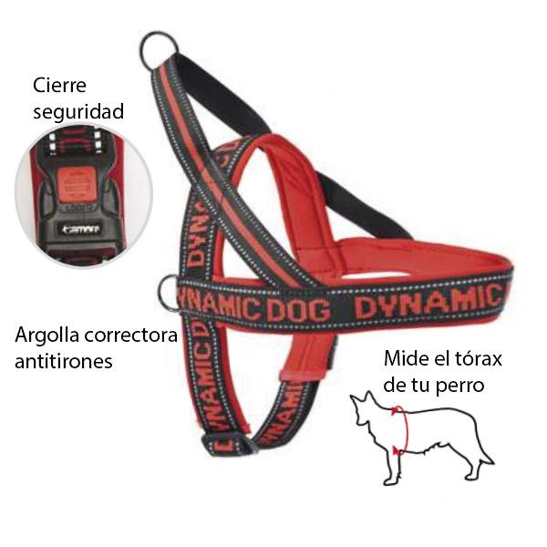 arnes neopreno Dynamic rojo para perros mascotienda